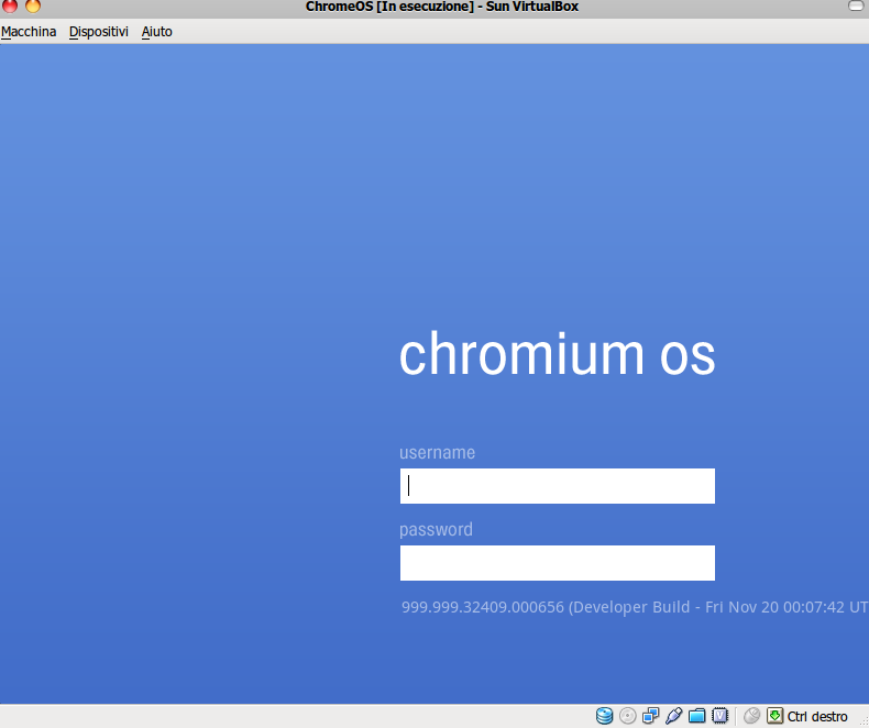 TEST: Google Chrome OS VM Image